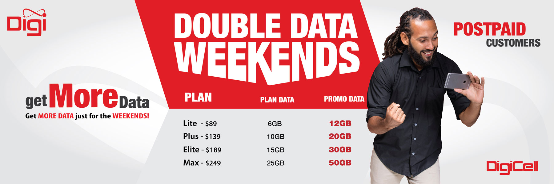 Double Data Weekends