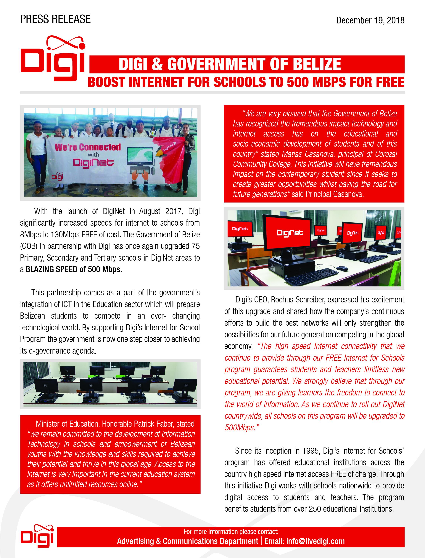 Belize Telemedia Limited - News Release